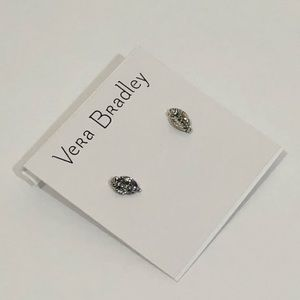 NWT Vera Bradley Stud Feather Earrings silver ⬇️